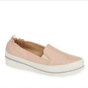 Ron White Pastel Pink Platform Wedge Sneaker